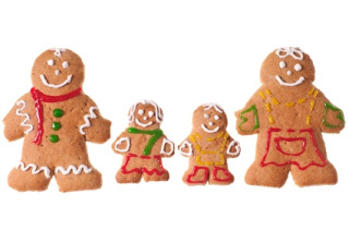Family of gingerbread men with icing