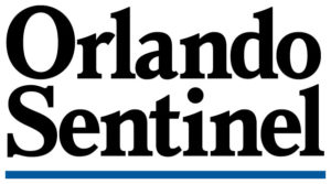 Orlando Sentinel black text with blue underline