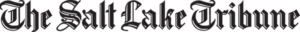 The Salt Lake Tribune logo in black and white block writing